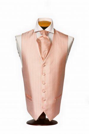 Pink zig-zag stripe silk waistcoat