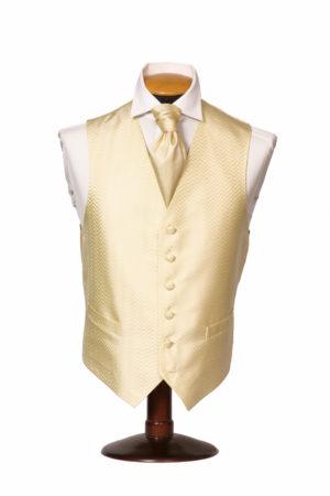 Yellow horizontal zig-zag waistcoat