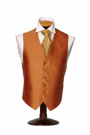 Burnt orange silk waistcoat