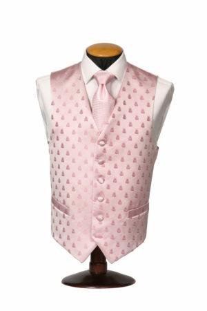 Pink silk bee waistcoat