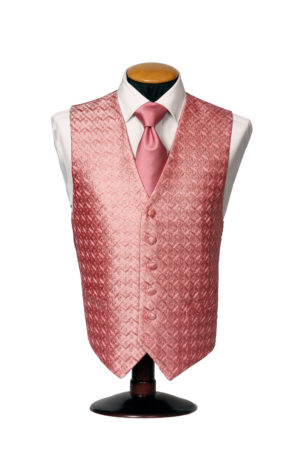Pink embroidered diamond design waistcoat