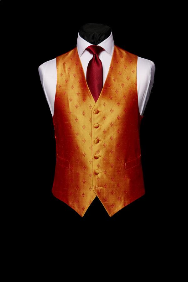 Burnt orange fer de ley waistcoat