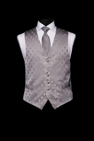 Silver silk bee waistcoat