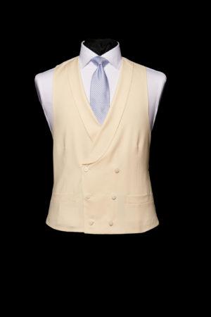 Mens Ivory wool double-breasted waistcoat six button waistcoat