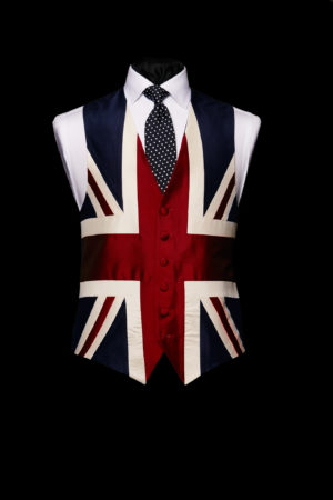 Union jack handmade silk waistcoat