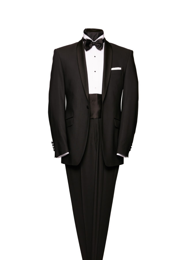 Black shoal collar dinner suit