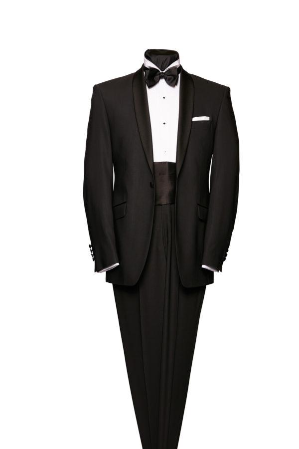Black shoal collar dinner suit