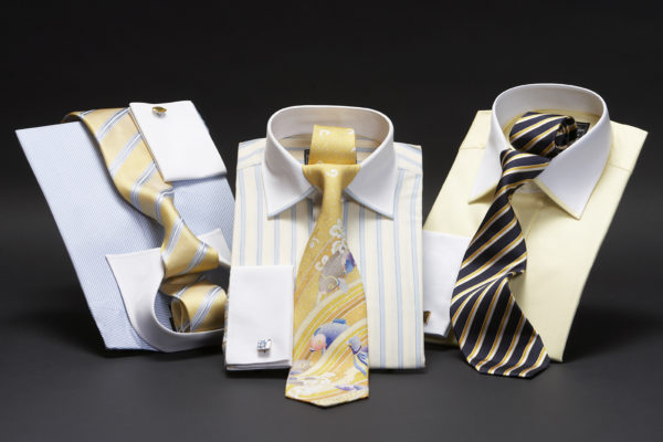 White collar and cuff two fold superfine pure cotton shirts