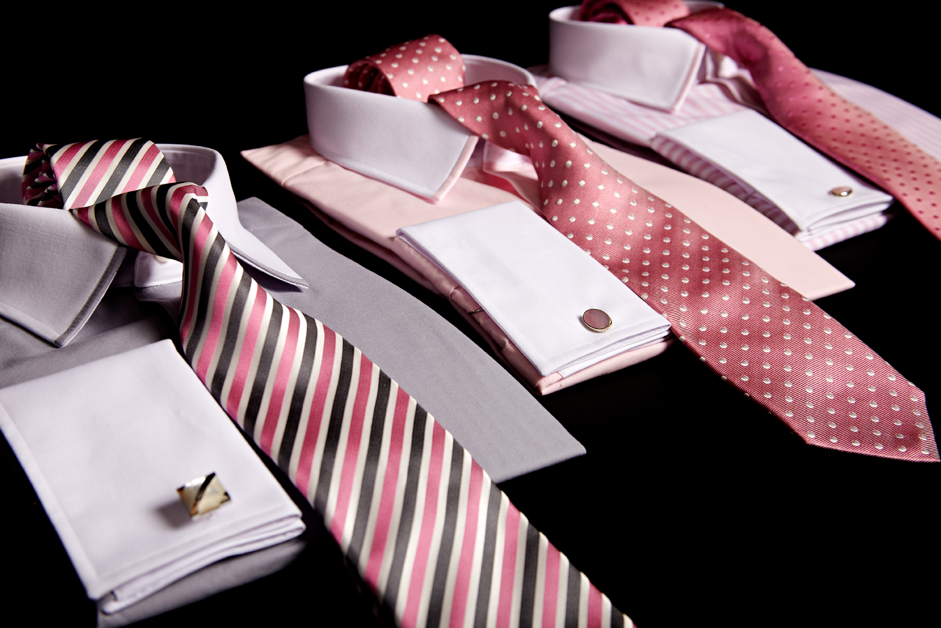 Ties and Super fine two fold cotton shirts