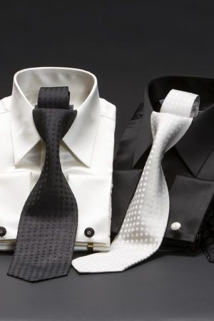 Men's satin silk classic collar shirt