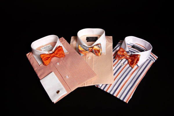 Bow ties and Super fine two fold cotton shirts