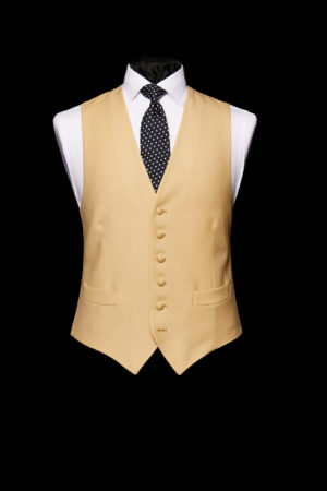 Mellow yellow single-breasted wool waistcoat