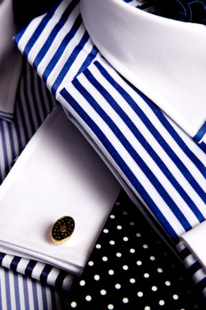 Mens superfine white collar and cuff twofold cotton shirts