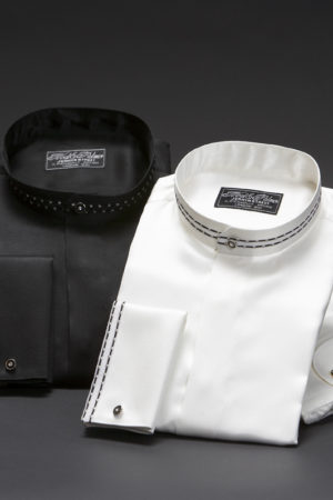 Mens silk Mandarin Nehru collar evening dress shirts